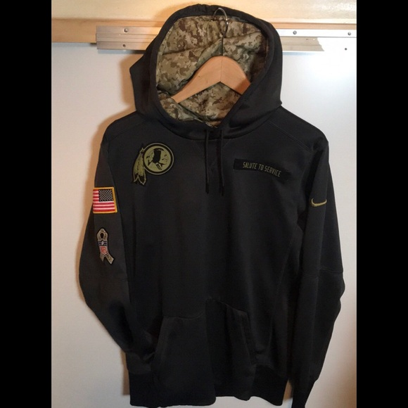 buy online 356b4 cd75a Nike NFL Redskin Salute to Service men sz S hoodie